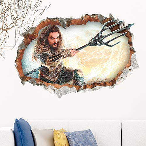 GVC Movie 3D Wall Hole Stickers For Home Decor Living Rooms Kids Room Posters Accessories Mural PVC Wall Art Decorations