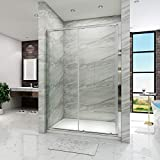 ELEGANT 1200mm Sliding Shower Enclosure for Wetroom Cubicle in 6mm Safety Glass Screen Shower Door