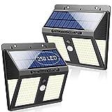 SYOSIN Luz Solar Exterior, Super 250 LED Sensor Movimiento Lámpara Solar IPX65 Impermeable con Gran Ángulo 270°Luz Nocturna de Energía Solar para Jardín, Parque, Camino, Garaje, Exterior/Interior