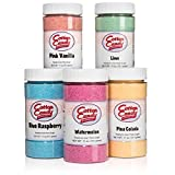Cotton Candy Express 5 Flavor Cotton Candy Sugar Pack with Lime, Watermelon, Pina Colada, Blue...