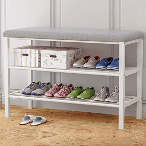 HyiFMY Zapatero, Zapatillas a Prueba de Polvo Gabinete Salón Salón Zapato Rack Organizador con Asiento tapizado 80x30x50cm (Color: Gris) (Color : Grey)