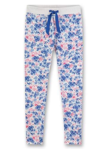 Sanetta Mädchen Leggings Schlafanzughose, Blau (Cornflower Blue 5357), (Herstellergröße: 128)
