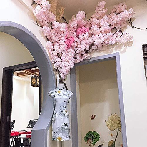 LNDDP Rosa künstliche Kirschblütenblumen für Haushochzeitsfeier Gartenbürodekoration Seidenpflanzen
