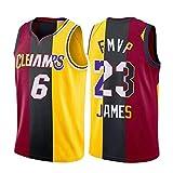 XGMJ Lebron James FMVP Jersey, 6 # 23 # Lakers Cavaliers Calore Ricamato Pallacanestro Jersey Gilet, Camicia Senza Maniche Sport Top Traspirante Confortevole Felpa A M