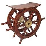 Benzara Ship Wheel Table Decor, 24'