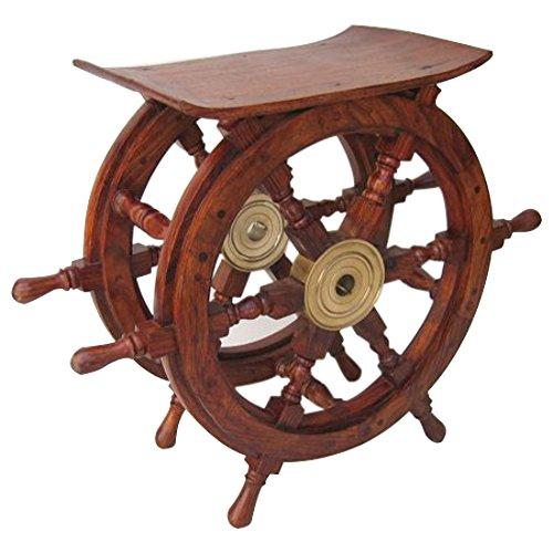 """Benzara Ship Wheel Table Decor, 24"""""""