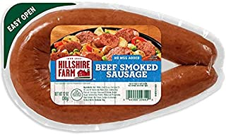 Hillshire Farm Beef Smoked Sausage 12 Oz (4 Pack)
