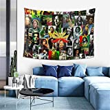 Pulchrumcs Hippie Reggae Tapestry Art Wall Hanging Throw for Birthday Party Banner Living Room Bedroom 60x40inch