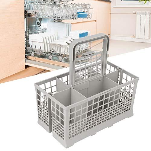 Duokon vaatwasser mand, huishouden keuken universele vaatwasser bestek bewaarmand vaatwasmachine accessoires met aparte vakken voor de meeste merken