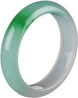 She Charm Quartzite Jade Bangle for Women, Natural Jade Color Floating Jade Bangle