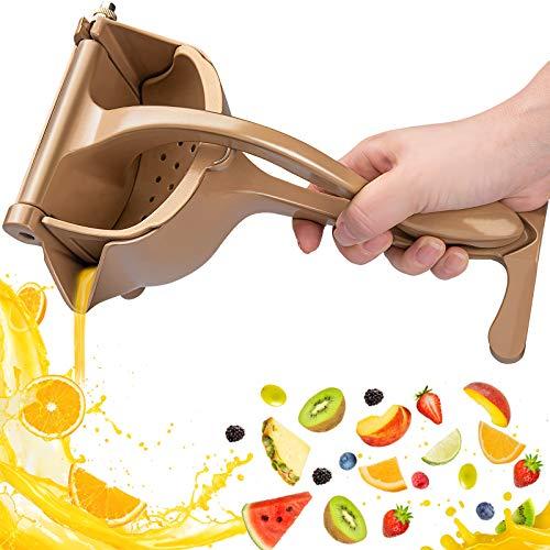 Exprimidor Limon Manual,Automoness Exprimidor Manual de aleación de aluminio,Robusto y Resistente,Prensa de mano herramienta de jugo de frutas Para frutas, limones, naranjas