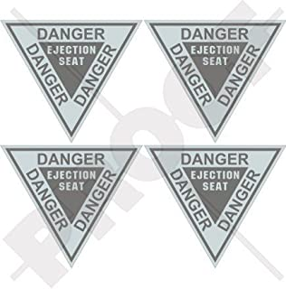 DANGER EJECTION SEAT LowVis USAF USMC Martin Baker 2,4