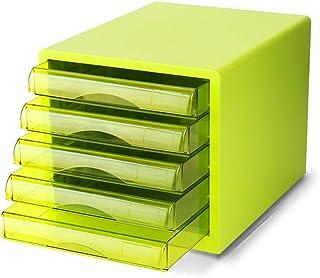 KANJJ-YU Dépôt tiroirs de bureau Classeur 5 couches fichier plastique armoire à tiroirs de bureau Armoire de rangement (Co...