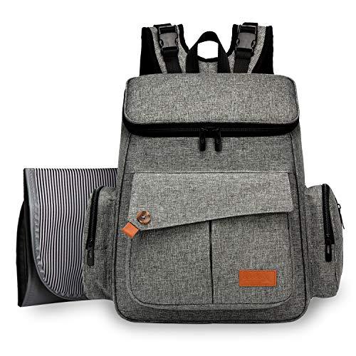 DCCN Baby Wickelrucksack Wickeltasche mit Wickelunterlage Große Kapazität Babytasche Reise Rucksack Reisetasche für Unterwegs