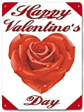 Tin Sign Vintage Chic Art Decoration Poster Happy Valentine's Day for Home Bar Cafe Farm Store Garage or Club 12' X 8'