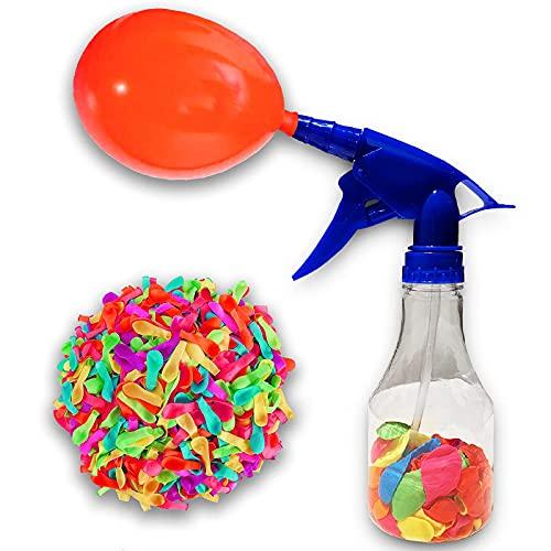 Globos de Agua para Fiestas con Botella de Llenado. 50 Bombas de Agua Multicolor en Práctica Botella que Facilita el Llenado. Water Balloons. Juegos de Agua Divertidos.