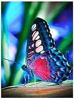 大人用クロスステッチキット葉の上に立つ蝶11CT16x20inchDIY刺繡刺繍キット初心者向けリビングルームや寝室の装飾用クロスステッチキット