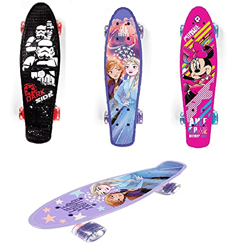 Skateboard Kinder Komplett Disney Frozen Cars Minnie Maus Star Warws (Minnie Maus)