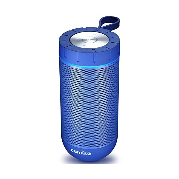 COMISO Waterproof Bluetooth Speakers Outdoor Wireless Portable Speaker with 24 Hours...