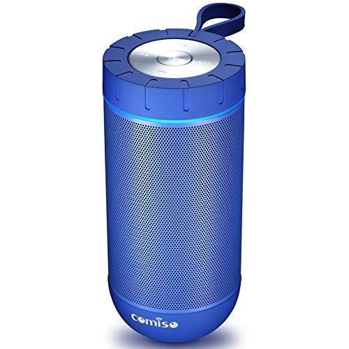 COMISO Waterproof Bluetooth Speakers Outdoor Wireless Portable Speaker with 20 Hours Playtime...