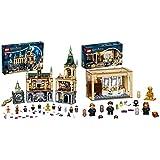 LEGO Harry Potter La Camera Dei Segreti Di Hogwarts, Set Castello Con Sala Grande E Minifigure D'Oro & Harry Potter Hogwarts: Errore Della Pozione Polisucco, Castello Giocattolo Con Minifigure D'Oro