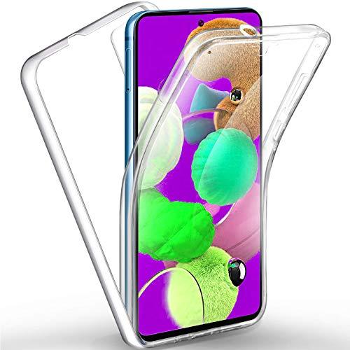 TBOC Funda para Samsung A51 [6.5'] - Carcasa [Transparente] Completa [Silicona TPU] Doble Cara [360 Grados] Protección Integral Total Delantera Trasera Lateral Móvil