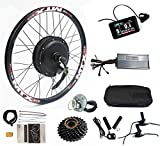 Color Display, Electric Bike Conversion Kit 52V 2000W Rear Motor Wheel Bicycle Kit with Sine Wave Controller, 7 Speed flywheel (29inch)
