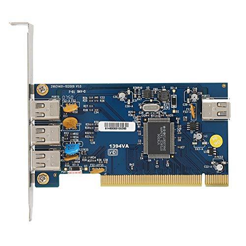 Bewinner 4-Port-Videoaufnahmekarte, tragbare DV-PCI-Audio- und Videoaufnahmekarte, Audio-Video-Grabber-Konverter für MP3, PDA, Mobile Festplatten, CD-ROM, CD-RW, DVD-ROM, Drucker