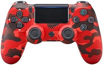 Controlador Bluetooth inalámbrico para Playstation 4 con doble vibración compatible con Windows PC y Android OS-camuflaje rojo