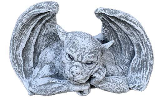 Steinfigur Gargoyle Denker frostfest wetterfest Steinguss Wasserspeier