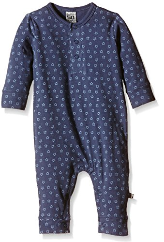 Pippi Baby - Jungen Jumpsuit, Jumpsuit Ls Ao-printed, GR. 56, Blau (Vintage Blue)