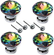 Diamantvorm Ontwerp Kleurrijke Kristallen Glazen Knoppen Kast Lade Trekdeur Keukenkast Kledingkast Handgrepen Hardware-SPA...