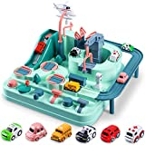 Race Tracks for Boys Car Adventure Toys Gifts for 2 3 4 5 6 Year Old Boys Girls, Puzzle Car Tracks Playsets City Rescue Toy Preschool Educational Toys for Toddlers, Boys Toys Age 2 3 4 5 6 Kids Toys