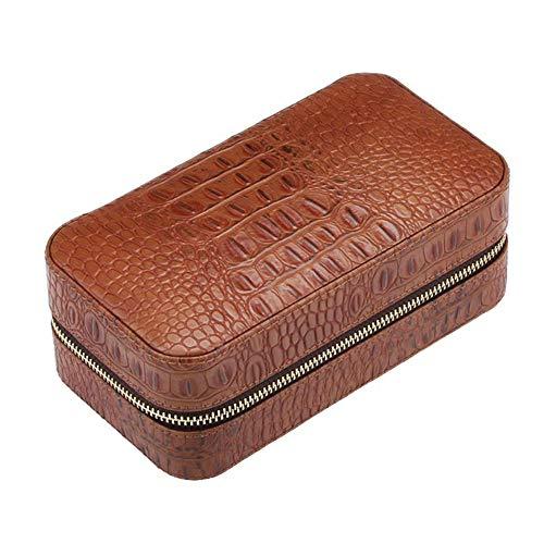 YXF-Cigar Humidors Cigar Box, 6-Pack Draagbare Cedar Wood Cigar Humidor, Lederen Vochtinbrengende Doos Vochtinbrengende Kast Geschenkdoos Met Vochtmeter Vochtinbrengende Apparaat, Grootte: 20.5x10.8x8.6cm