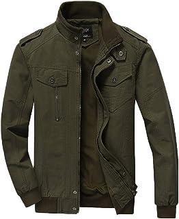 COMVIP 3 Kinds Men's Spring Autumn Long Sleeve Pockets Stand Collar Jackets