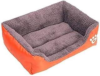 مقاس L بألوان الحلوى. بيت مربَّع، سرير للكلب صديق للبيئة، أريكة صغيرة للحيوانات الأليفة لمختلف لوازم الكلاب.