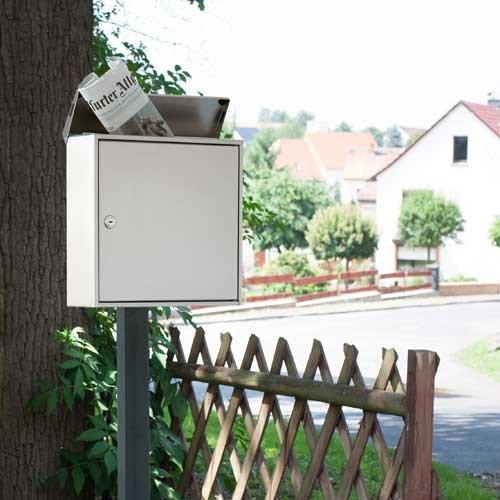 Max Knobloch Briefkasten Chicago Edelstahl 12 Liter Wandbriefkasten - 2