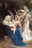 Aawerzhonda Póster de Lienzo Nuevas Pinturas clásicas Famosas Retrato William Adolphe Bouguereau Canción del ángel Lienzo 60x90cm