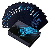 Magicwand Water Proof Poker Playing Cards (Black)