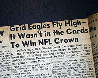 PHILADELPHIA EAGLES Win NFL Football Championship Philly Blizzard 1948 Newspaper NEW YORK POST, December 20, 1948