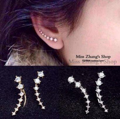 Bristoll Gli orecchini eleganti dell argento sterlina di S925 delle donne fanno un orecchiante di cerchio del fiocco