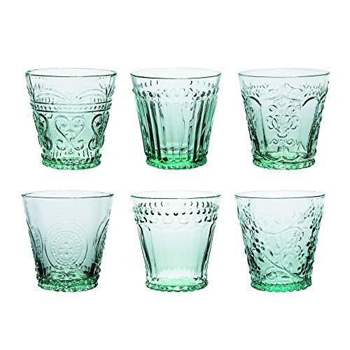 Kom Amsterdam AQ6MX Aqua Waterglas, Soda Limette, 240 ml, Grün