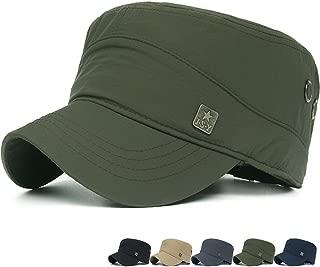 REDSHARKS Men Women Outdoor Sport Quick Dry Cadet Army Cap Adjustable Waterproof Military Hat Flat Top Baseball Sun Cap