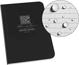 J.L. Darling Rite in The Rain Weatherproof Soft Cover Pocket Notebook, 3 1/2