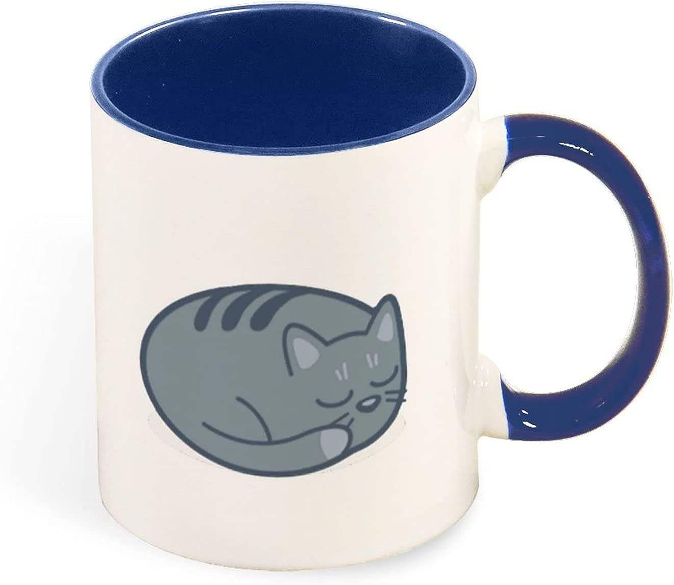 Two Tone 11 Ounce Cat10 Ceramic Handle Max 72% OFF Over item handling Color and Inside for Mug