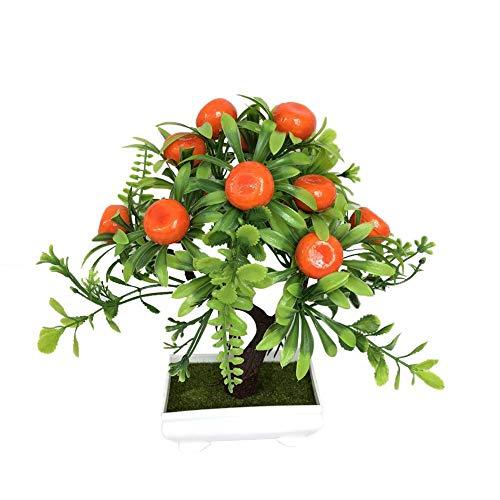 YAMMY Natur Künstliche, Künstliche Blumen-Anlage Kleine Bonsai Simulation Red Apfelbaum Pfirsichbaum Orange Bonsai Für Hausgarten-Dekoration