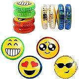 liuer Yoyo Luces 8PCS Yoyo Niños de Luz LED Plástico Yo-Yo Entretenido Juguete Yoyo Ball para Niños (Aleatorio Expresión Patrón)