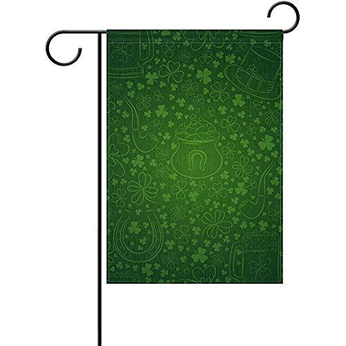 Huis Decoratieve Vlaggen,Home Yard Decor Vlag,Seizoensgebonden Garden Flag Banner,St. Patrick'S Day Clover bier hoefijzer outdoor vlaggen voor partij, verjaardag, bruiloft