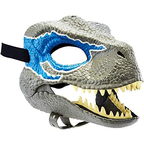 HUAI Partido de la mscara de Halloween Carnaval Regalo Velociraptor del Dinosaurio del Tyrannosaurus Mscara Mscara Cosplay Animal (Color : Blue Dinosaur)