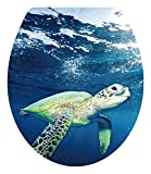 Sea Turtle Toilet Seat Lid Cover Decal